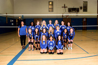CCJH Girls Volleyball Team & Ind. Photos Fall 2018