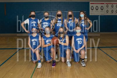 CCJH 7th Grade Girls Basketball Team & Ind. Photos Winter 2020-21